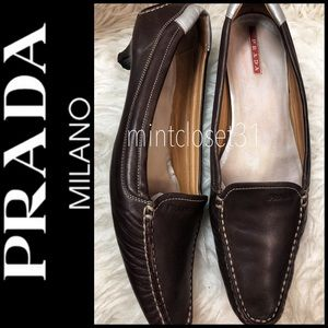 Prada Italy Leather Kitten Heels